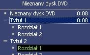 Zawartość płyty widziana w programie Windows Media Player