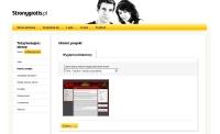 Pierwszy krok podczas tworzenia witryny: wybór szablonu wyglądu.