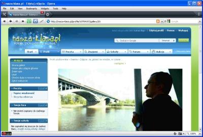 Na zrzucie ekranu z witryny nasza-klasa.pl wyraźnie widać artefakty powstałe podczas kompresji obrazu
