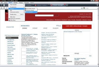 Strona PC Worlda bez obrazków. Kolorystyka mniej więcej pomaga ją zidentyfikować, chociaż witryna prezentuje się niezbyt powabnie.