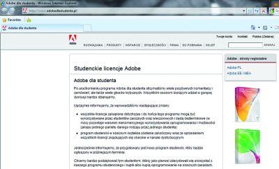 adobedlastudenta.pl - na tej stronie Photoshopa kupisz 10 razy taniej