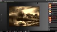Efekt zastosowania filtrów Sepia i Rozmycie we FlauntR.