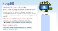 Za pomocą serwisu keepHD ściągniesz z YouTube filmy w rozdzielczości HD.