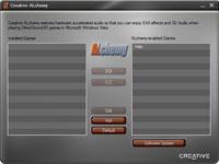 o instalacji Creative ALchemy możesz skorzystać z prostego konfiguratora, który pozwala samodzielnie aktywować wrapper dla wybranych gier.