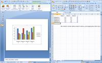Wykresy są wstawiane na podstawie arkuszy w Excelu.