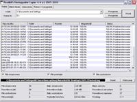 Unstoppable Copier w trakcie procesu przywracania plików.