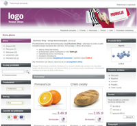 Przykładowy szablon sklepu internetowego w home.pl. Wystarczy dodać własne produkty i można rozpocząć sprzedaż.