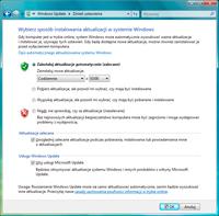 Aby dostać się do ustawień aktualizowania w Viście lub Windows 7, kliknij polecenie Zmień ustawienia w aplecie Windows Update.