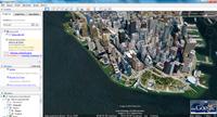 Najważniejsze budynki są widoczne na mapie w postaci trójwymiarowych obiektów.