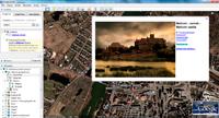 Google Earth oferuje obszerne informacje o zabytkach, w tym zdjęcia udostępnione przez innych użytkowników.