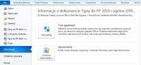 Po zaznaczeniu jednej opcji lista ostatnio otwieranych dokumentów pojawia się w menu aplikacji.
