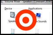 Za pomocą Miksera głośności upewnij się, że wszystkie urządzenia są włączone i ustawione