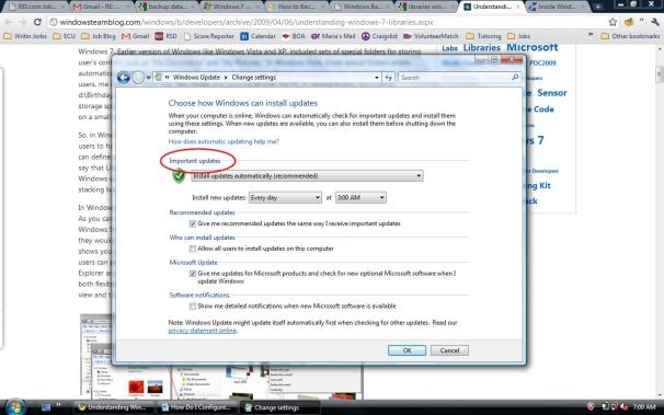 Konfiguracja usługi Windows Update - ważne aktualizacje