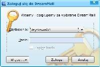 Okno wyboru profilu DreamMail