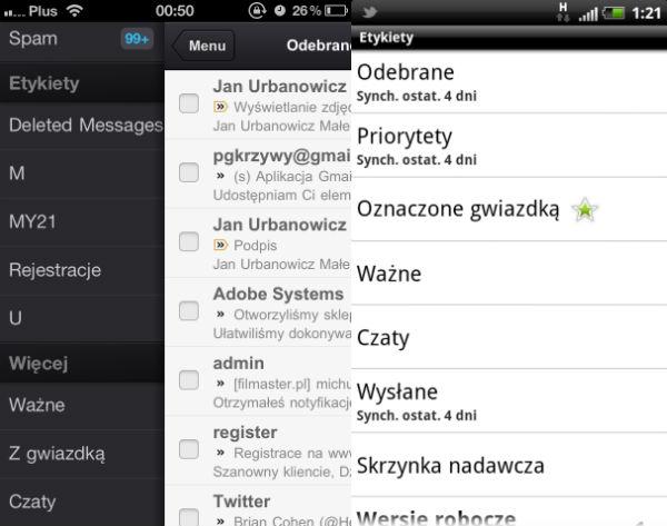 Etykiety iOS / Android