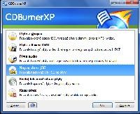 Aby nagrać obraz płyty na pusty nośnik za pomocą programu CDBurnerXP, należy kliknąć to pole.