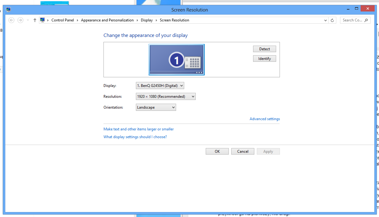 Ustawienia wielu monitorów