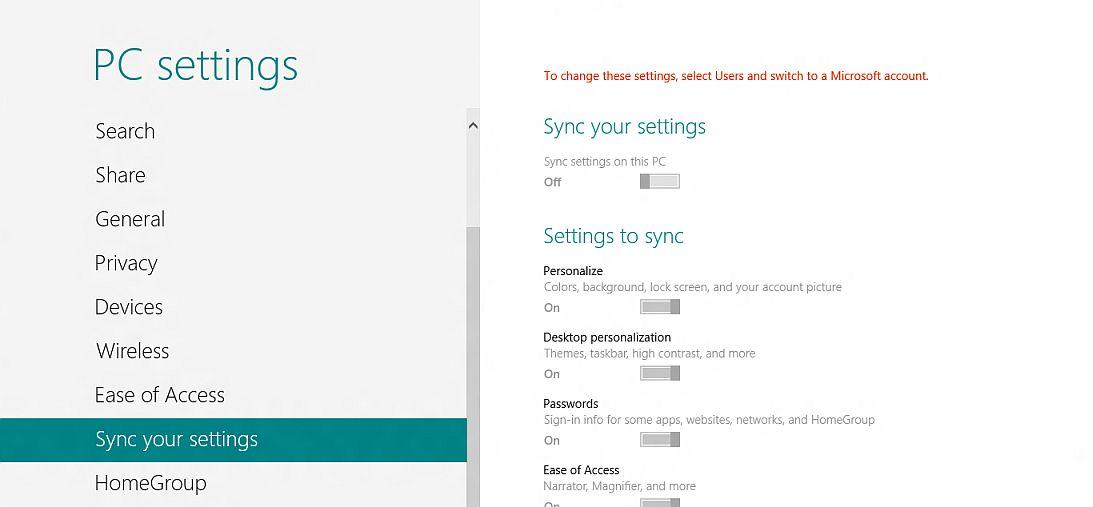 Windows 8 pozwala ujednolicać ustawienia systemu w różnych urządzeniach, lecz wymaga konta w portalu Microsoftu.