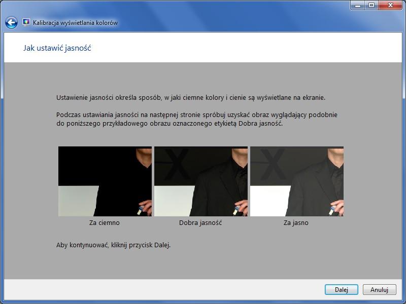 W niewielu wypadkach można pozbyć się delikatnego migotania, ponownie kalibrując ekran.