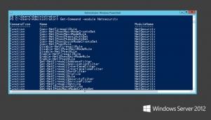 W swoich nowszych wersjach (3.0 i 4.0) powłoka PowerShell daje administratorom do dyspozycji bardzo pokaźny zestaw poleceń (tu: lista komend w module Netscurity).