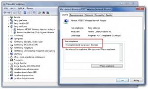 Menedżer urządzeń podpowie ci, czy sterownik karty sieciowej jest poprawnie zainstalowany i czy jest ona włączona.