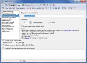 Wygodne oszczędzanie czasu – AntRenamer zapewnia wiele funkcji, które pozwolą ci dostosować za jednym zamachem wiele nazw plików do własnych potrzeb.