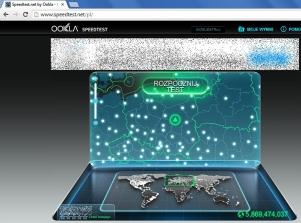 W internecie jest wiele serwisów umożliwiających zbadanie wydajności swojego łącza (tu: www.speedtest.net).