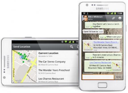 WhatsApp: wysyłanie informacji o lokalizacji za pomocą iPhone'a i smartfonu z systemem Android  Źródło: http://blog.whatsapp.com/