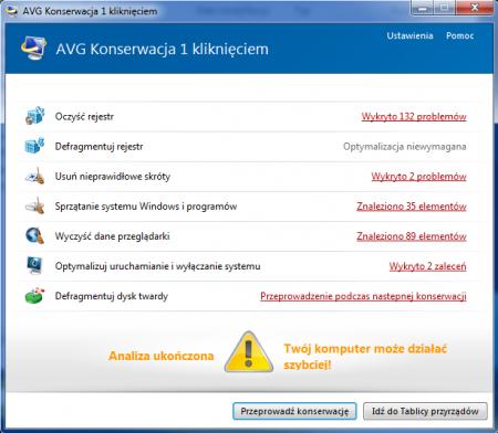 Aplikacje do czyszczenia systemu, jak widoczny np. na ilustracji moduł programu AVG PC TuneUp 2014 – oferują znacznie więcej niż tylko usuwanie plików tymczasowych Windows.