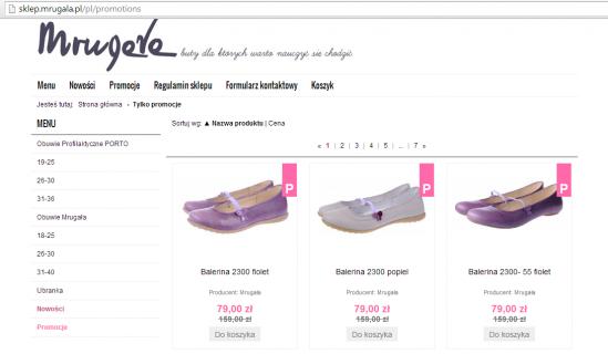Sklep z obuwiem dla dzieci Mrugała działa na platformie Shoper. To tylko jedno z ponad 10 tysięcy wdrożeń zrealizowanych w ramach tej usługi.