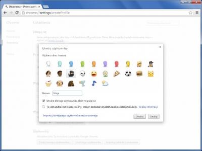 Chrome jest przystosowane do użytkowania w trybie wieloosobowym. Każdemu użytkownikowi można utworzyć oddzielny profil, w którym będą składowane jego dane konfiguracyjne, zakładki i historia odwiedzanych witryn.