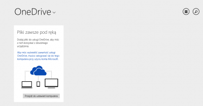 Logowanie do systemu za pomocą konta Microsoft albo nici z dysku internetowego