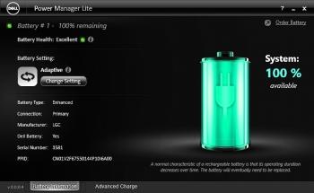 Kolorowy, lecz małomówny – to narzędzie producenta informuje o sprawności baterii. Trzeba sięgnąć po programy Windows, aby dowiedzieć się więcej.