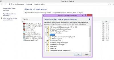 Niektóre funkcje są dostępne tylko w 64-bitowym wariancie Windows – na przykład wirtualizowanie Hyper V w Windows 8.1 Pro.