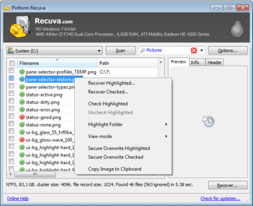 Aplikacja Recuva świetnie sprawdzi się podczas odzyskiwania przypadkowo – lub nie – skasowanych plików.