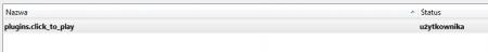 Zmiana statusu wtyczki Firefox