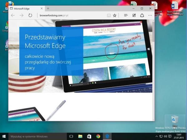 Microsoft Edge - nowa przeglądarka Microsoftu