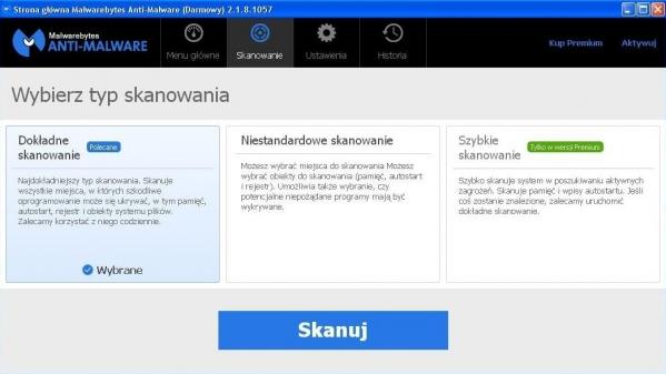 Malwarebytes Anti-Malware, jedno z narzędzi używanych przez Tron