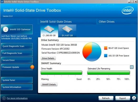 Intel udostępnia bezpłatne narzędzie do nadzorowania, optymalizowania i analizowania parametrów dysków talerzowych i SSD.