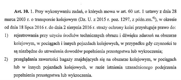 Projekt Ustawy o szczególnych rozwiązaniach związanych z organizacją wizyty Jego Świątobliwości Papieża Franciszka w Rzeczypospolitej Polskiej oraz Światowych Dni Młodzieży - Kraków 2016