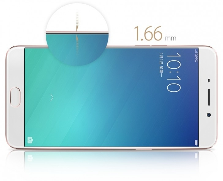 Oppo R9 ma bardzo cieniutką ramkę otaczającą ekran