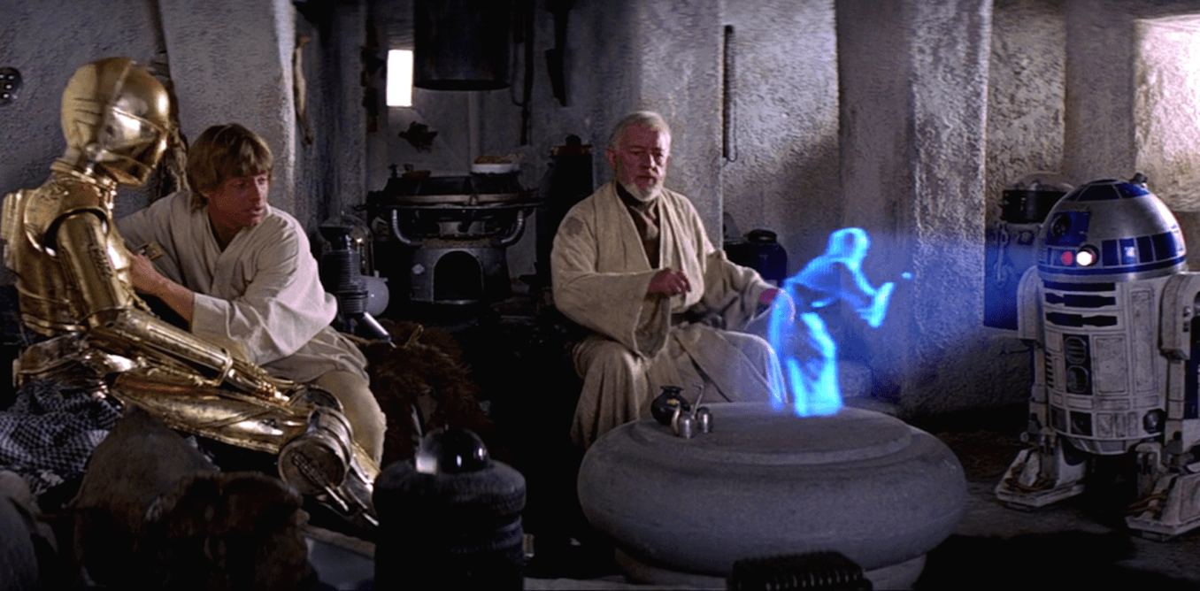 R2-D2 i jego słynny hologram