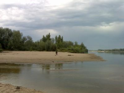 Brzeg Wisły, niebo zachmurzone (Nokia N80)